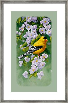 Goldfinch Iphone Case V2 Framed Print