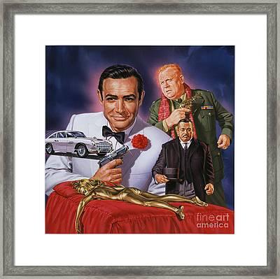 Goldfinger Framed Print by Dick Bobnick