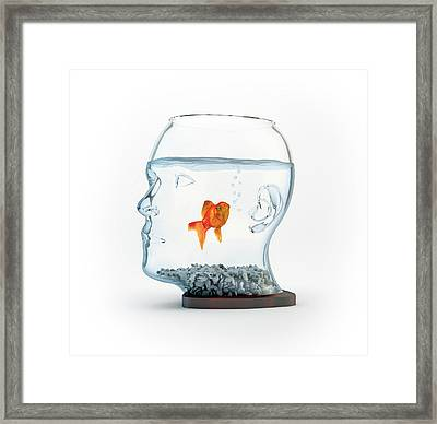 Goldfish In A Bowl Framed Print