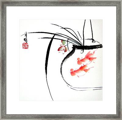 Goldfish Framed Print by Ming Yeung