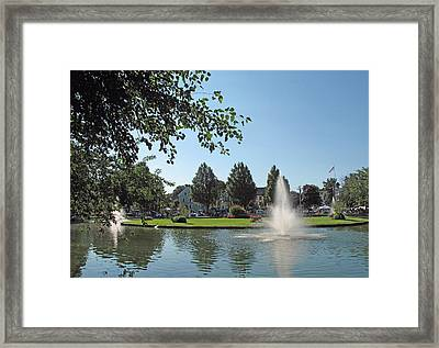 Goldfish Pond Fun And Flea Day Framed Print