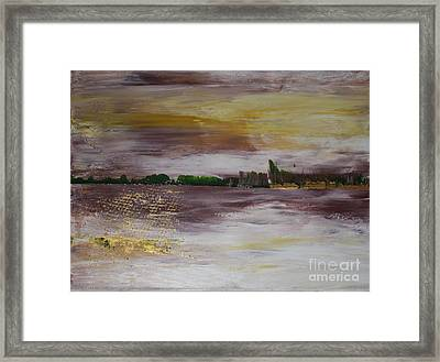Framed Print featuring the painting Goldfishing by Susanne Baumann