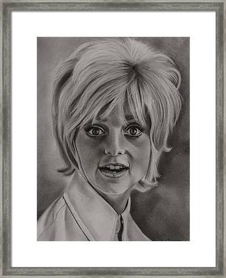 Goldie Hawn Framed Print by Brian Broadway
