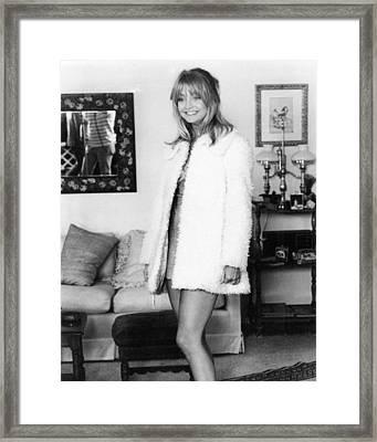 Goldie Hawn In Shampoo  Framed Print