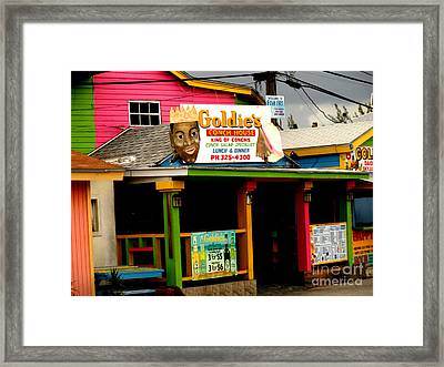 Goldie's Conch House Framed Print by Luther Fine Art