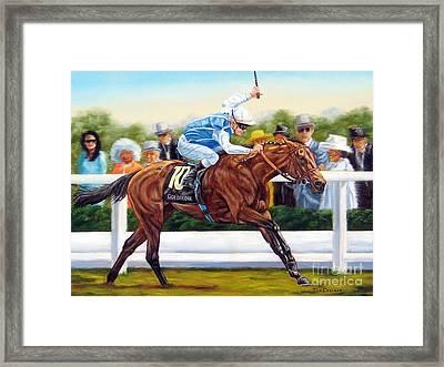Goldikova Winning At Royal Ascot Framed Print by Tom Chapman
