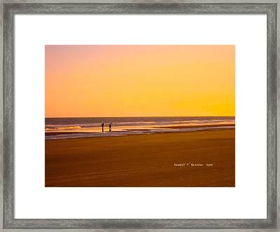 Goldlen Shore At Isle Of Palms Framed Print by Kendall Kessler