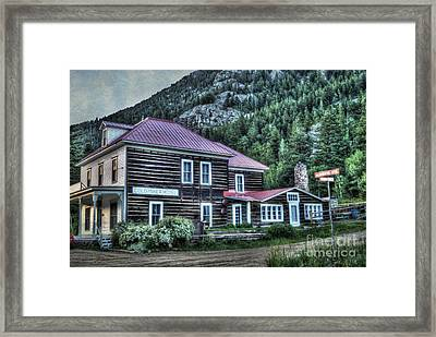 Goldminer Hotel Framed Print by Juli Scalzi