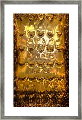 Goldpanel 02 Framed Print by Li   van Saathoff