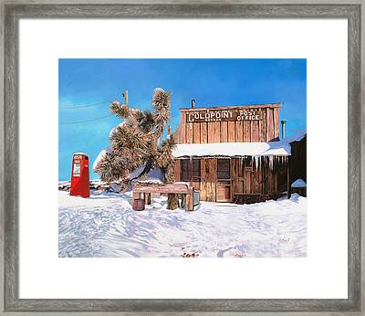 Goldpoint-nevada Framed Print