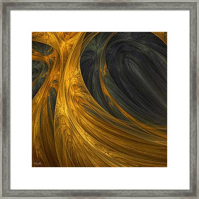 Gold's Grace Framed Print by Lourry Legarde