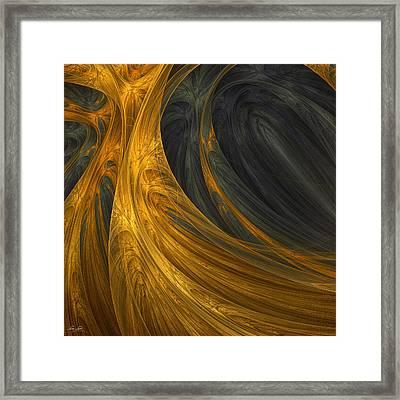 Gold's Grace Framed Print