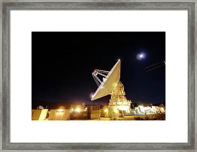 Goldstone Observatory At Night Framed Print by Nasa/jpl-caltech