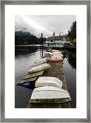 Goldstream Marina Framed Print