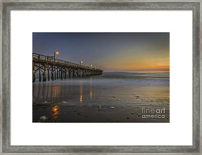 Goleta At Sunset Framed Print by Mitch Shindelbower
