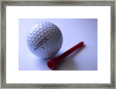Golf And Pin Framed Print by Rienye Nyika