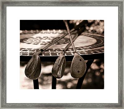 Golf Anyone Framed Print by Camille Lopez