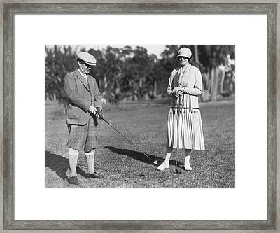 Golf At Palm Beach Framed Print by Underwood Archives