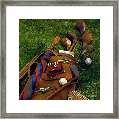 Golf Bag Framed Print