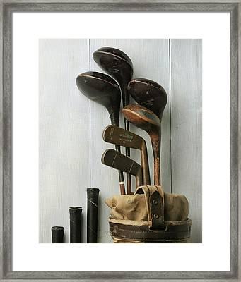 Golf Bag With Clubs Framed Print by Krasimir Tolev