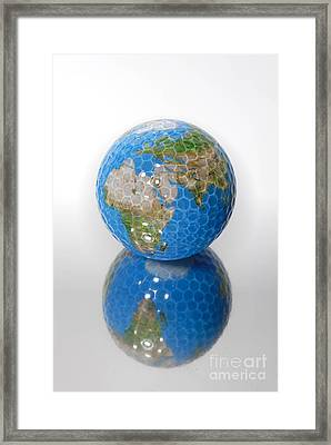 Golf Ball Globe Framed Print by Amy Cicconi