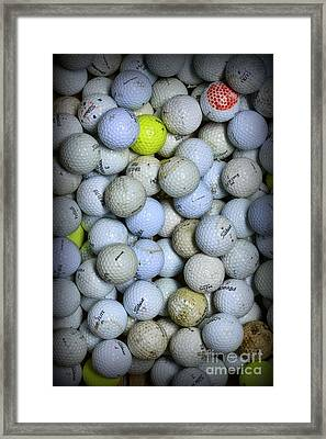 Golf Balls 1 Framed Print by Paul Ward