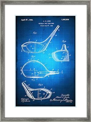 Golf Club Patent Blueprint Drawing Framed Print by Tony Rubino