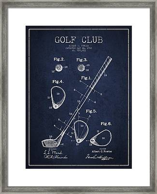 Golf Club Patent Drawing From 1910 Framed Print