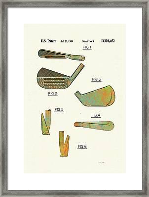 Golf Club Patent-1989 Framed Print