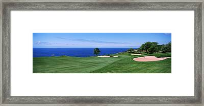 Golf Course At The Oceanside, The Framed Print by Panoramic Images