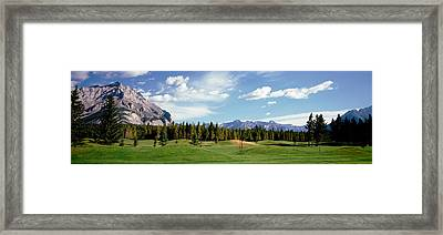 Golf Course Banff Alberta Canada Framed Print
