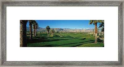 Golf Course, Desert Springs Framed Print by Panoramic Images