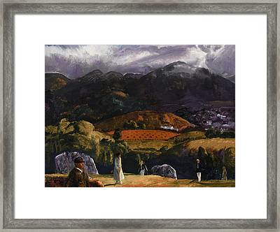 Golf Course Framed Print by George Wesley Bellows