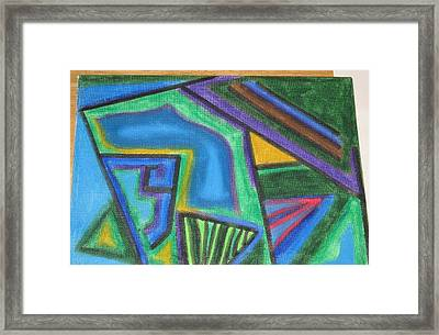 Golf Course Map Framed Print by Lois Picasso