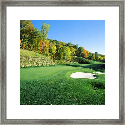 Golf Course, Raven Golf Club, Snowshoe Framed Print by Panoramic Images