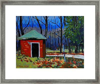 Golf Course Shed Series No.3 Framed Print by Charlie Spear