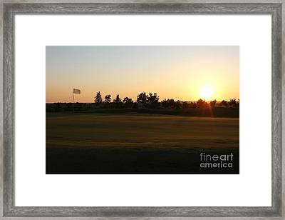 Golf Course Sunset Framed Print by Kiril Stanchev