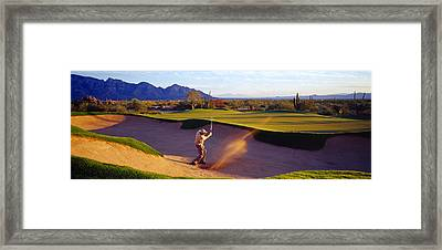 Golf Course Tucson Az Usa Framed Print by Panoramic Images
