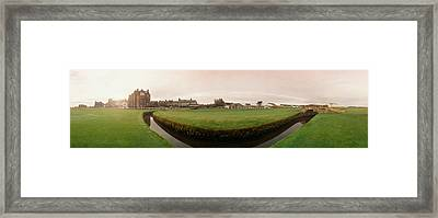 Golf Course With Buildings Framed Print by Panoramic Images