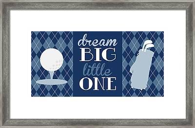 Golf Dream Big Framed Print by Tamara Robinson