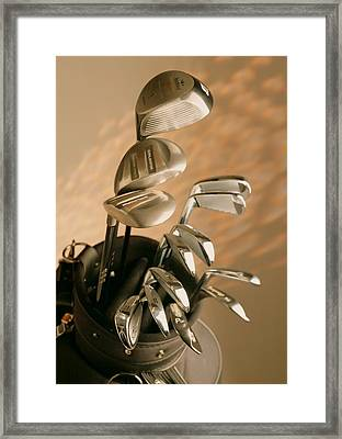 Golf Equipments Framed Print by Lanjee Chee