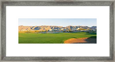 Golf Flag In A Golf Course, Phoenix Framed Print by Panoramic Images