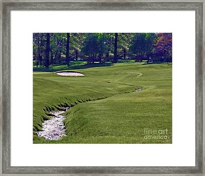 Golf Hazards Framed Print