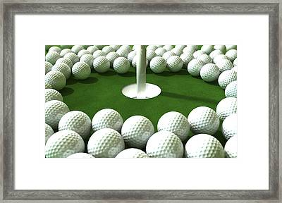 Golf Hole Assault Framed Print by Allan Swart