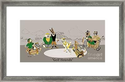 Golf Hounds Framed Print