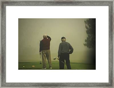 Golf In A Fog Framed Print