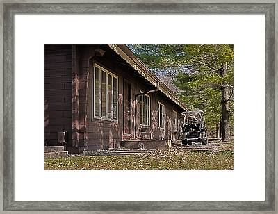 Framed Print featuring the painting Golf Lodge by Deborah Klubertanz