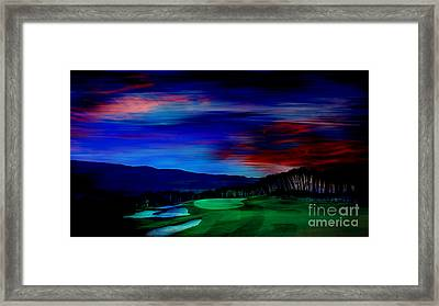 Golf Framed Print by Marvin Blaine