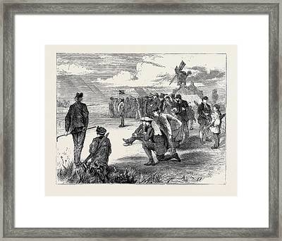 Golf Match Between The Royal Blackheath And London Scottish Framed Print