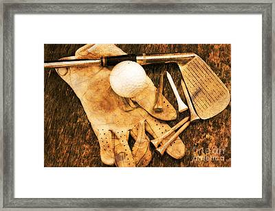 Golf Memorabilia Framed Print